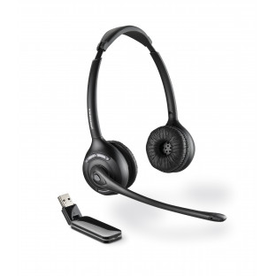 Plantronics Savi W420M (Over-the-head) — беспроводная DECT гарнитура для компьютера, оптимизирована для Microsoft Office Communicator и Lync