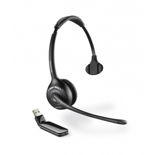 Plantronics Savi W410M (Over-the-head) — беспроводная DECT гарнитура для компьютера, оптимизирована для Microsoft Office Communicator и Lync